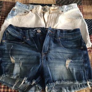 Pants - 2 pair high rise shorts